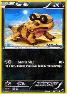 Sandile Plasma Freeze Pokemon Card