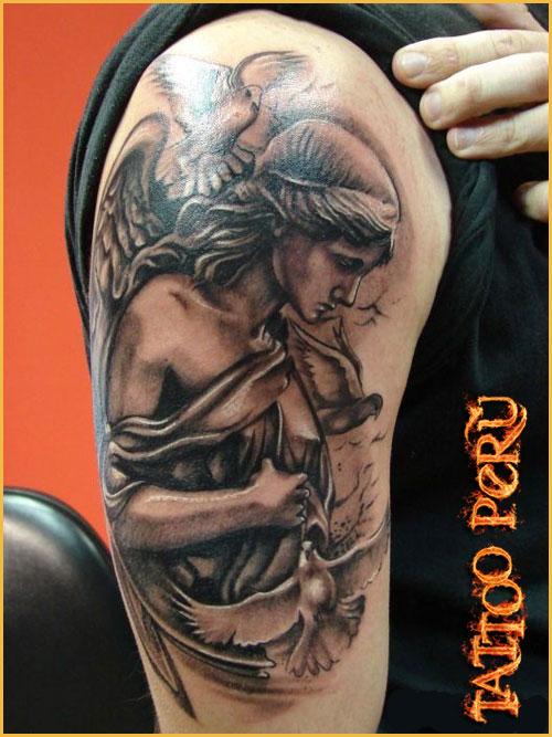 fotos de tatuajes los mejores tatuadores estan en warriors peru tatuajes de angeles. Black Bedroom Furniture Sets. Home Design Ideas
