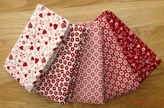 Red and White Fabrics - Quilters Basics, Stof