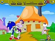 Game Sonic hôn nhau, chơi game hoat hinh hay