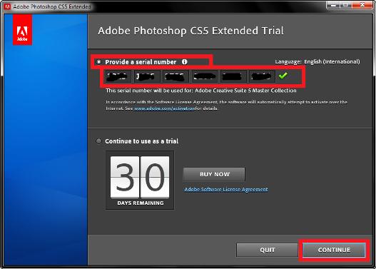 Исключением того, что серийный номер для adobe photoshop cs5 extended генер