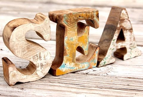 vintage nautical flea market finds letters