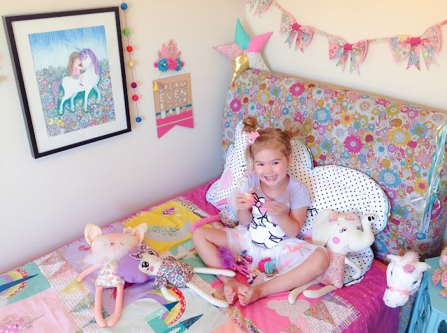 Girls Unicorns and Rainbows Bedroom