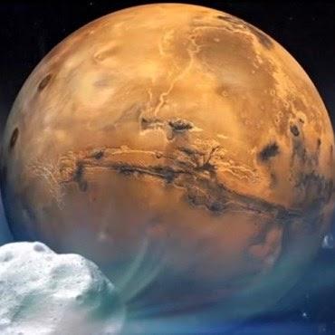 O cometa viajou mais de um milhão de anos para fazer esta primeira parada em Marte e só voltará dentro de outro milhão de anos, assim que completar uma volta ao redor do sol