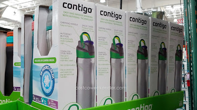 Contigo Brazos Stainless Steel Water Bottle comes in a pack of 2 at Costco