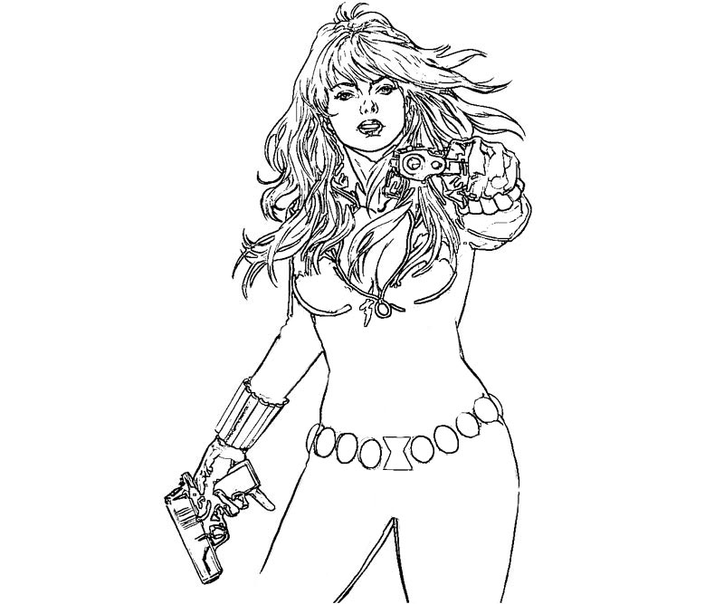 Coloring Pages Avengers Black Widow