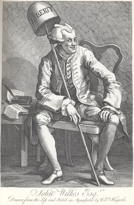 John Wilkes, by Hogarth