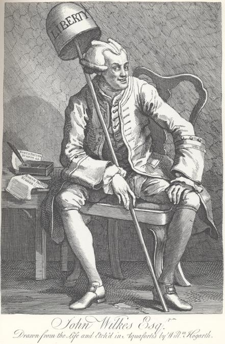 John Wilkes, by Hogarth