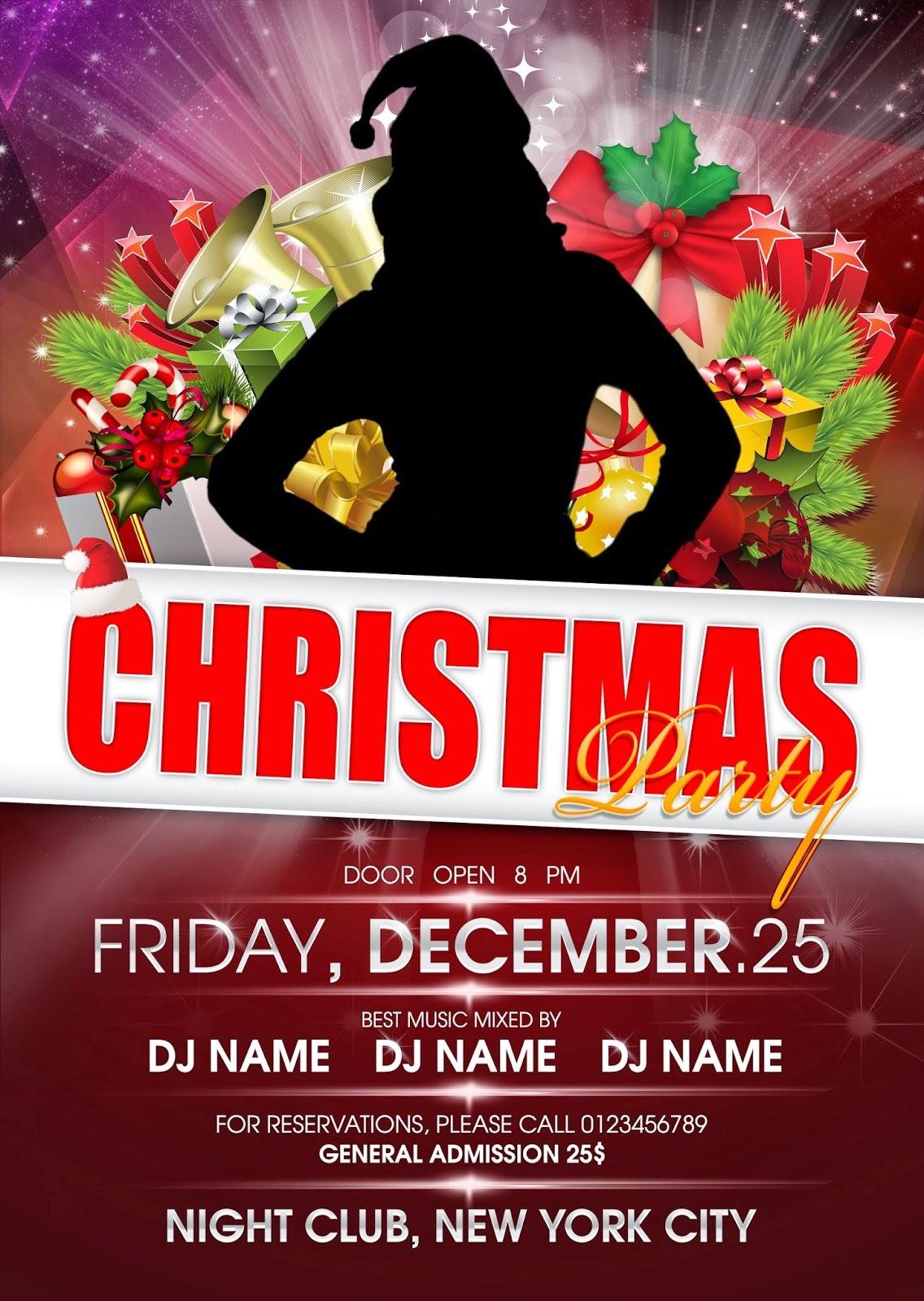 1ideaa christmas party flyer template psd christmas party flyer template psd