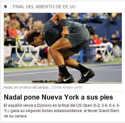 La victoria de Nadal en El País