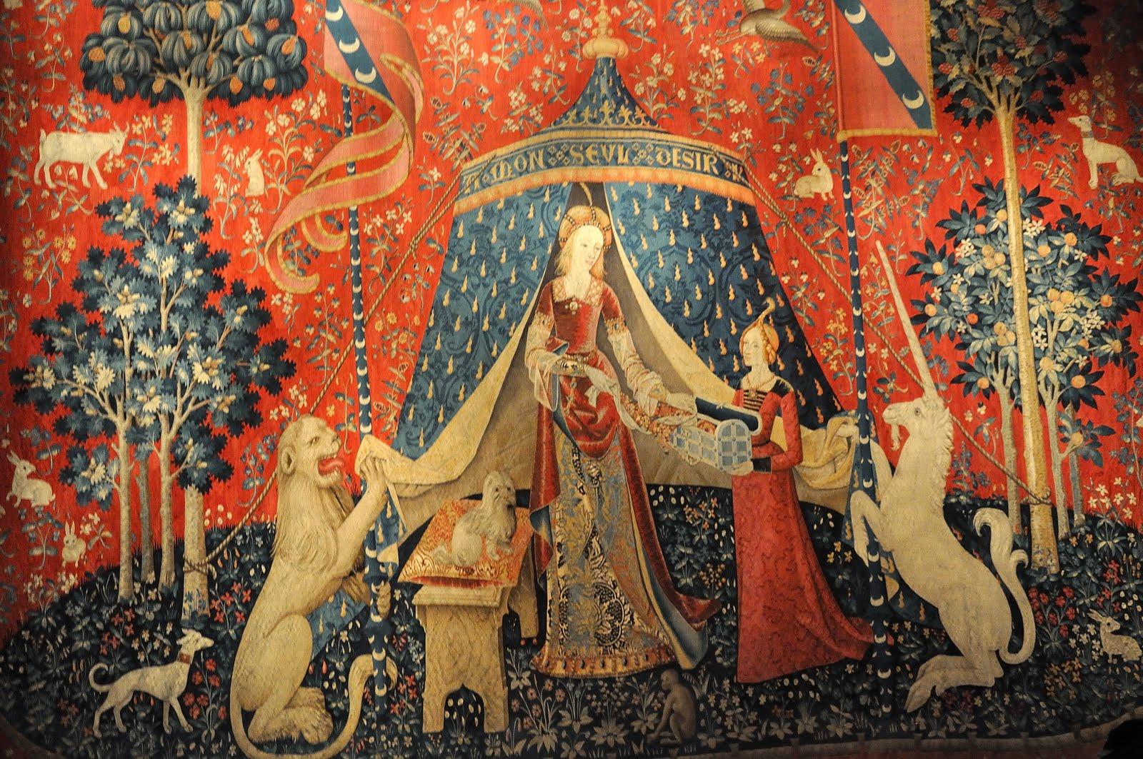 La dame la licorne le bijou du mus e de cluny l 39 ogresse de paris - Tapisserie dame a la licorne ...