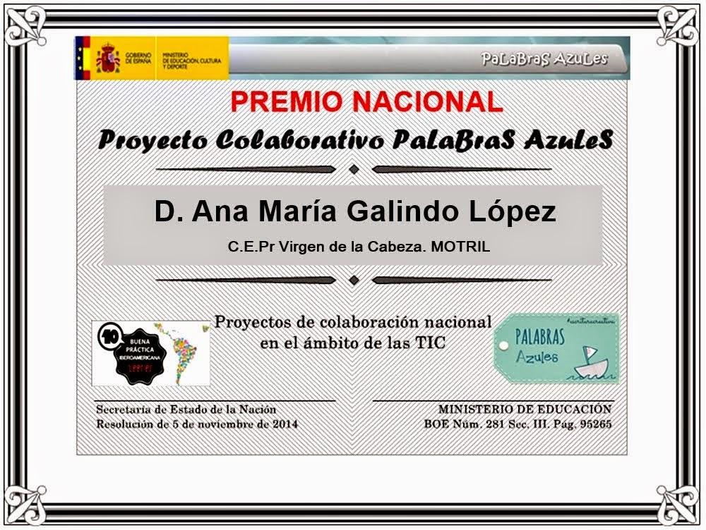 Premio Nacional Palabras Azules