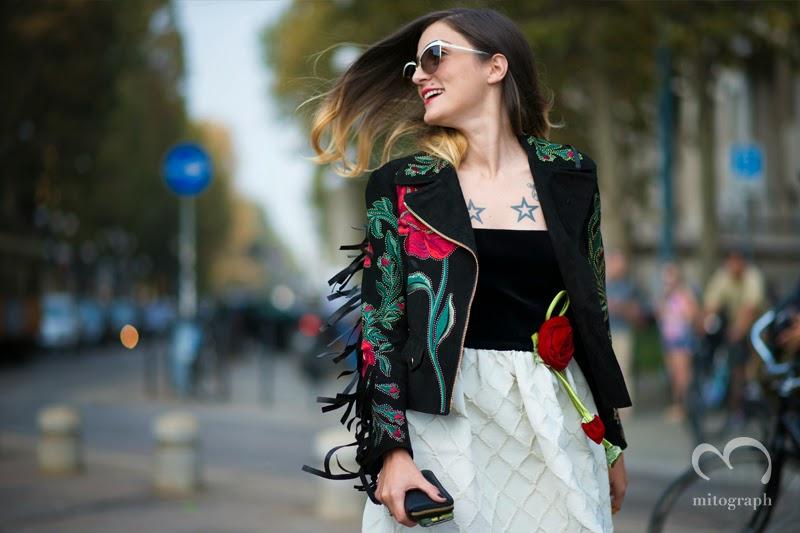 mitograph Eleonora Carisi Before Roberto Cavalli Milan Fashion Week 2014 Spring Summer MFW Street Style Shimpei Mito