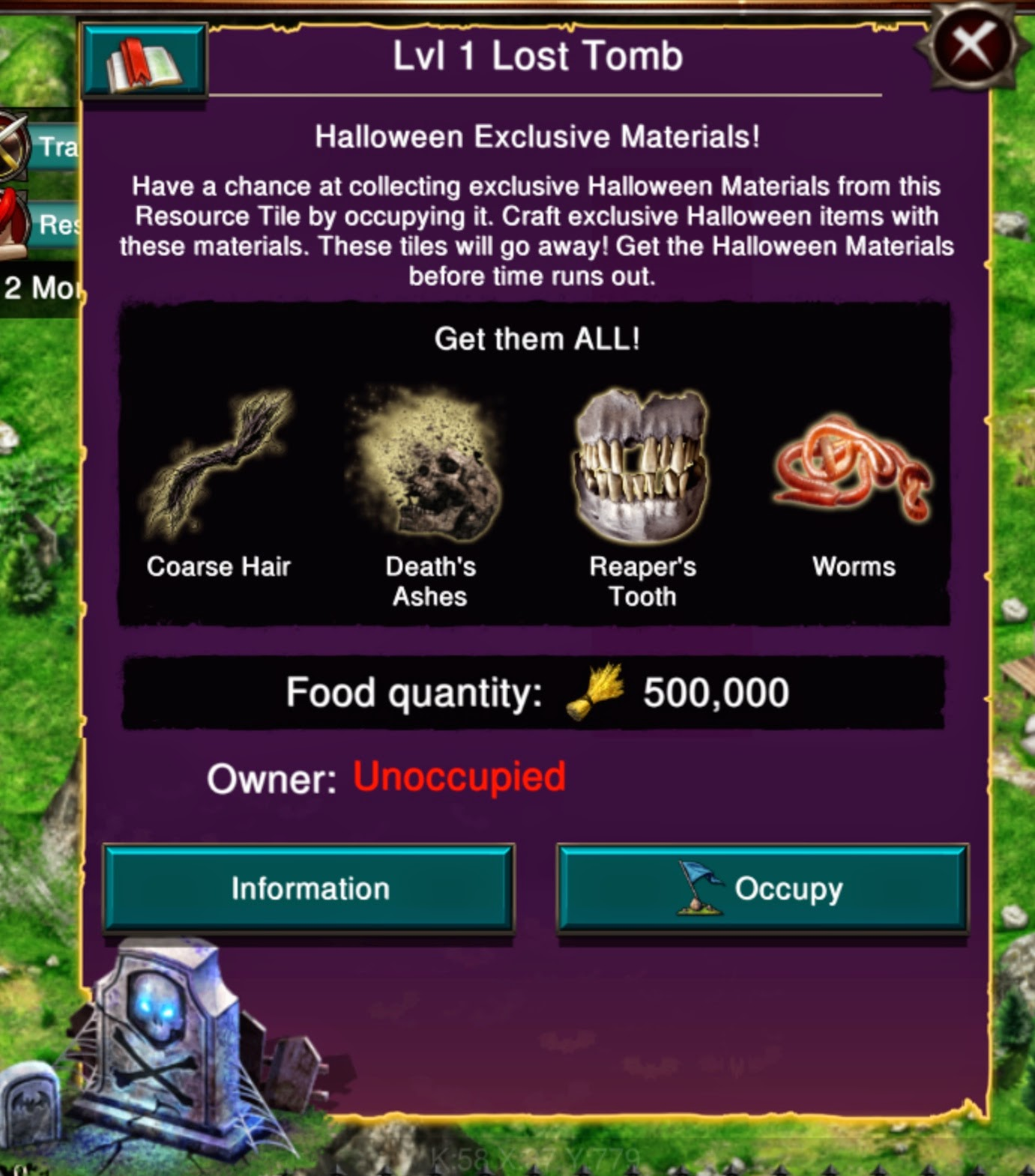 Monster Resource Tile