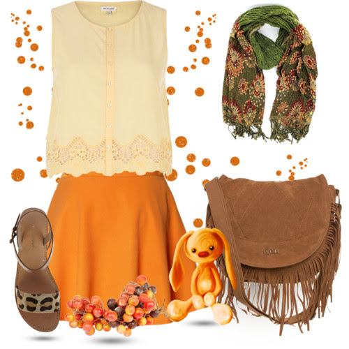 Casual look in fringes and skater skirt. Visit www.forarealwoman.com      #neon