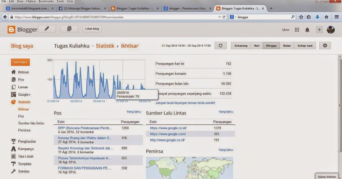 Cara Meningkatkan Visitor Blog Tugas Kuliahku