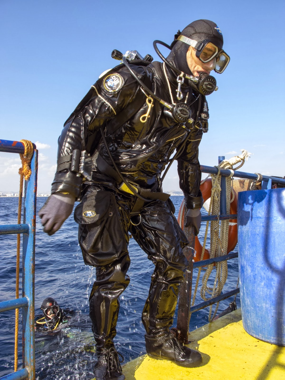 technical diving in drysuit in cyprus