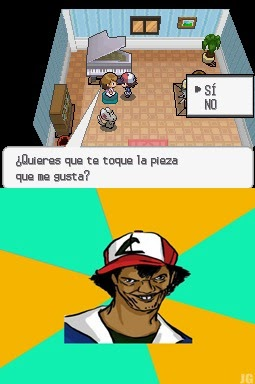 Este Ash tiene un problema mental jajaj