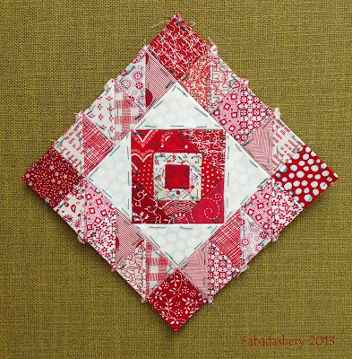 English Paper Piecing - Nearly Insane Quilt, Block 85