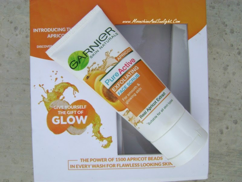 Garneir Apricot PureActive Exfoliating Face scrub review