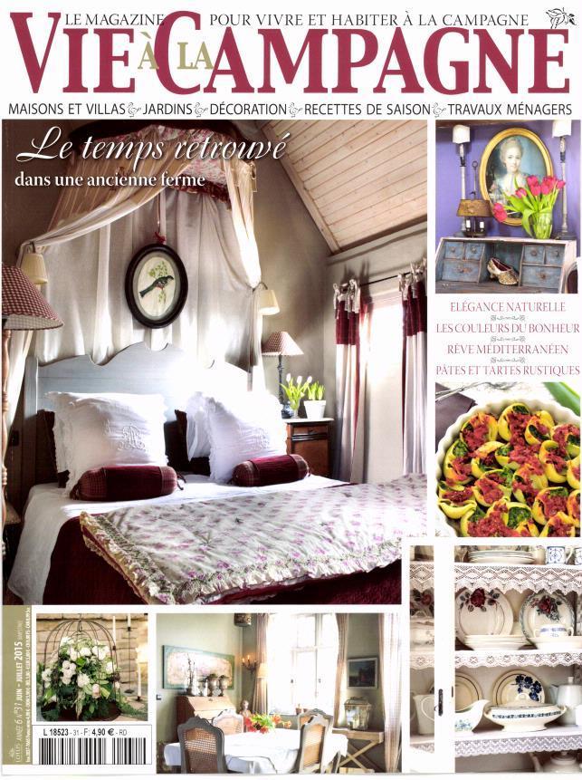 Ons huis in het Fanse woonmagazine Vie à la campagne juni-juli 2015