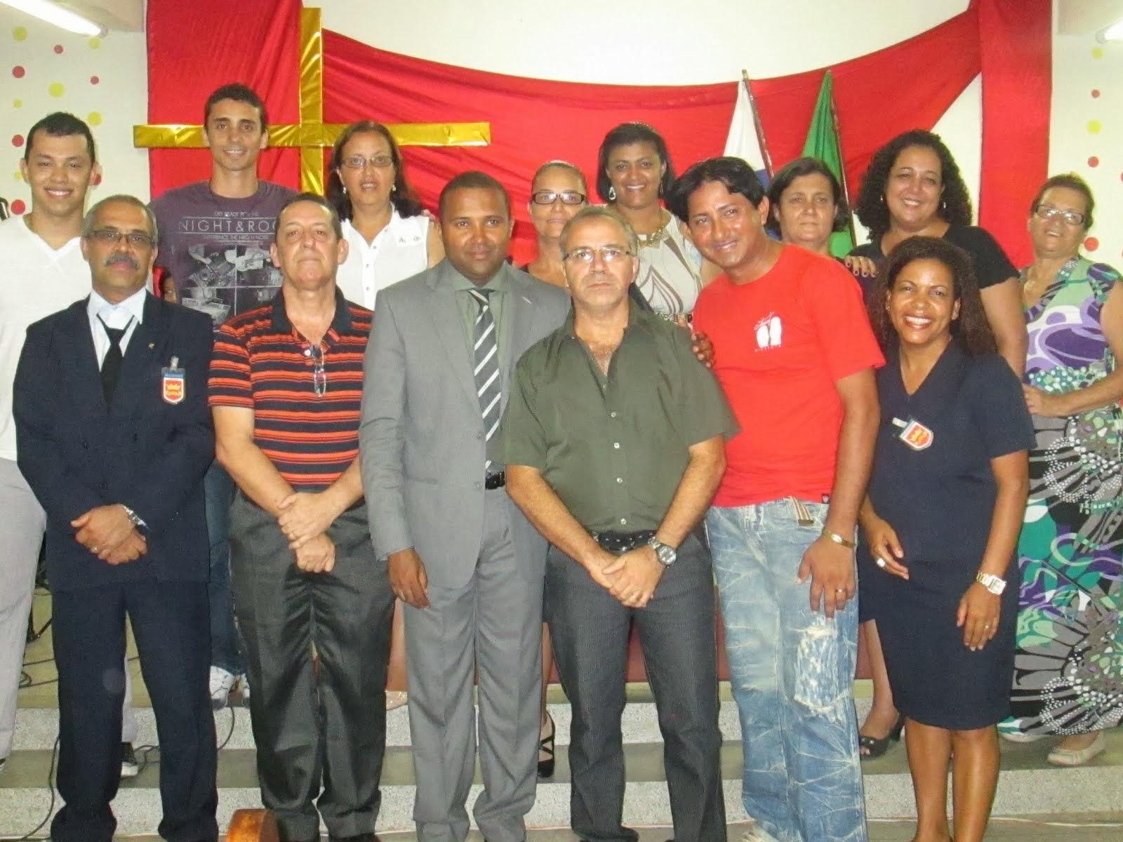 Pr. Ricardo Silva e Conselho de Diretores da Ieq Paciência