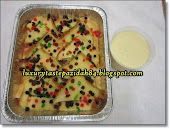 Bread Butter Pudding With Custard Sauce