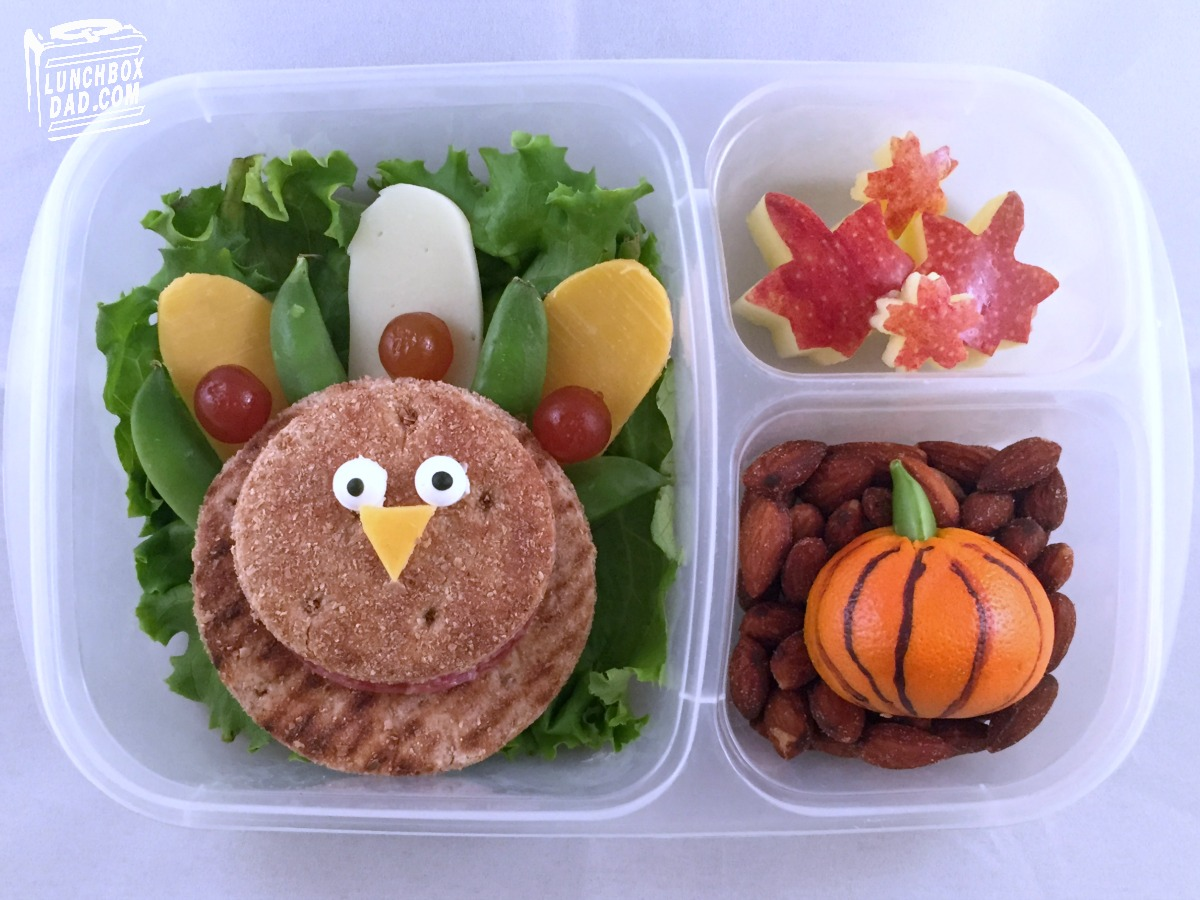 lunchbox dad learn to make a fun thanksgiving turkey lunch