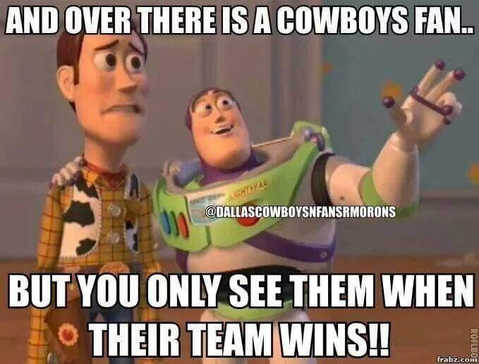 and over there is a cowboys fan.. but you only see them when their team wins !!
