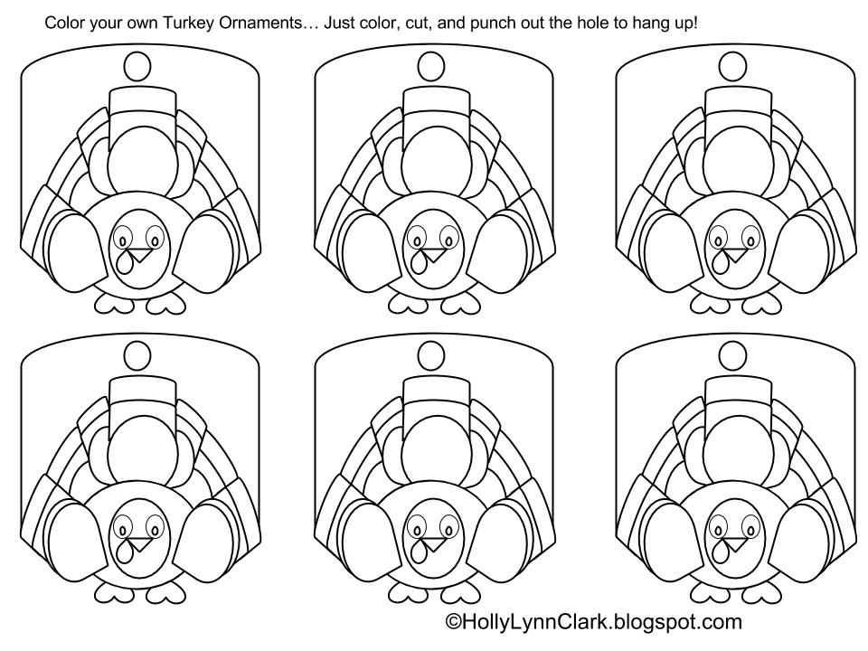 Coloring Page Turkey
