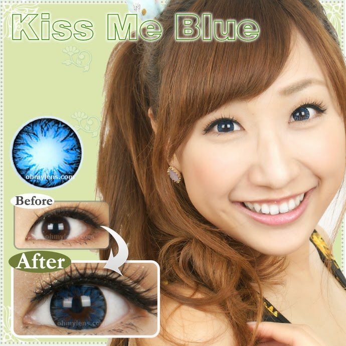 Kiss Me Blue Contact Lenses at ohmylens.com