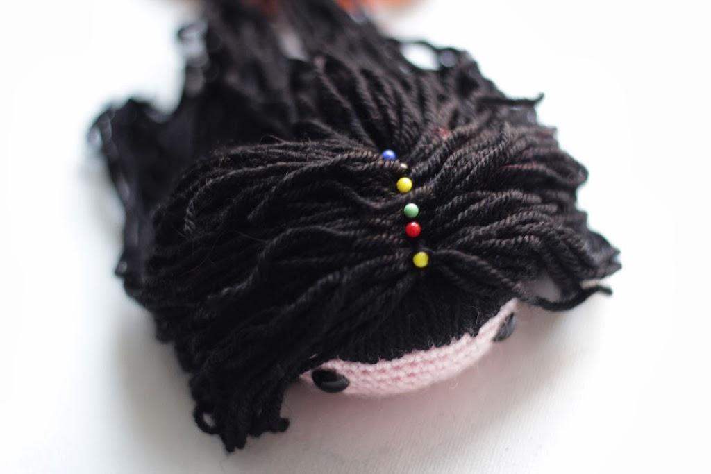 Amigurumi Long Hair : Amigurumi free pattern Kokeshi - Kaguya Hime Doll The ...