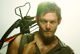 Daryl Dixon with Crossbow HD Wallpaper