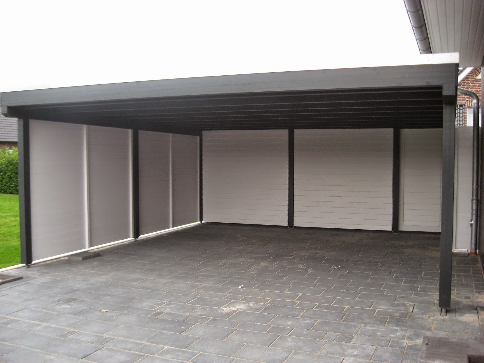 build unser bautagebuch das carport steht. Black Bedroom Furniture Sets. Home Design Ideas