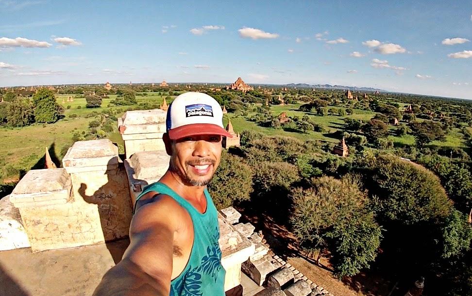 Sunset Pagoda Bagan - 100 Wonders of the World Burpee Challenge