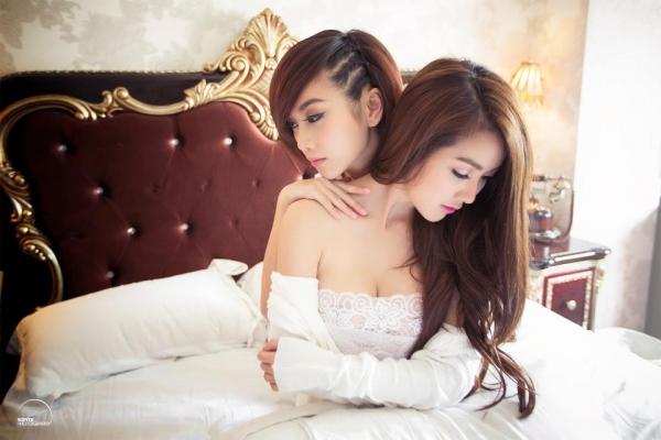 Ảnh gái đẹp HD Hot girl Linh Napie & Quỳnh Nhi 1