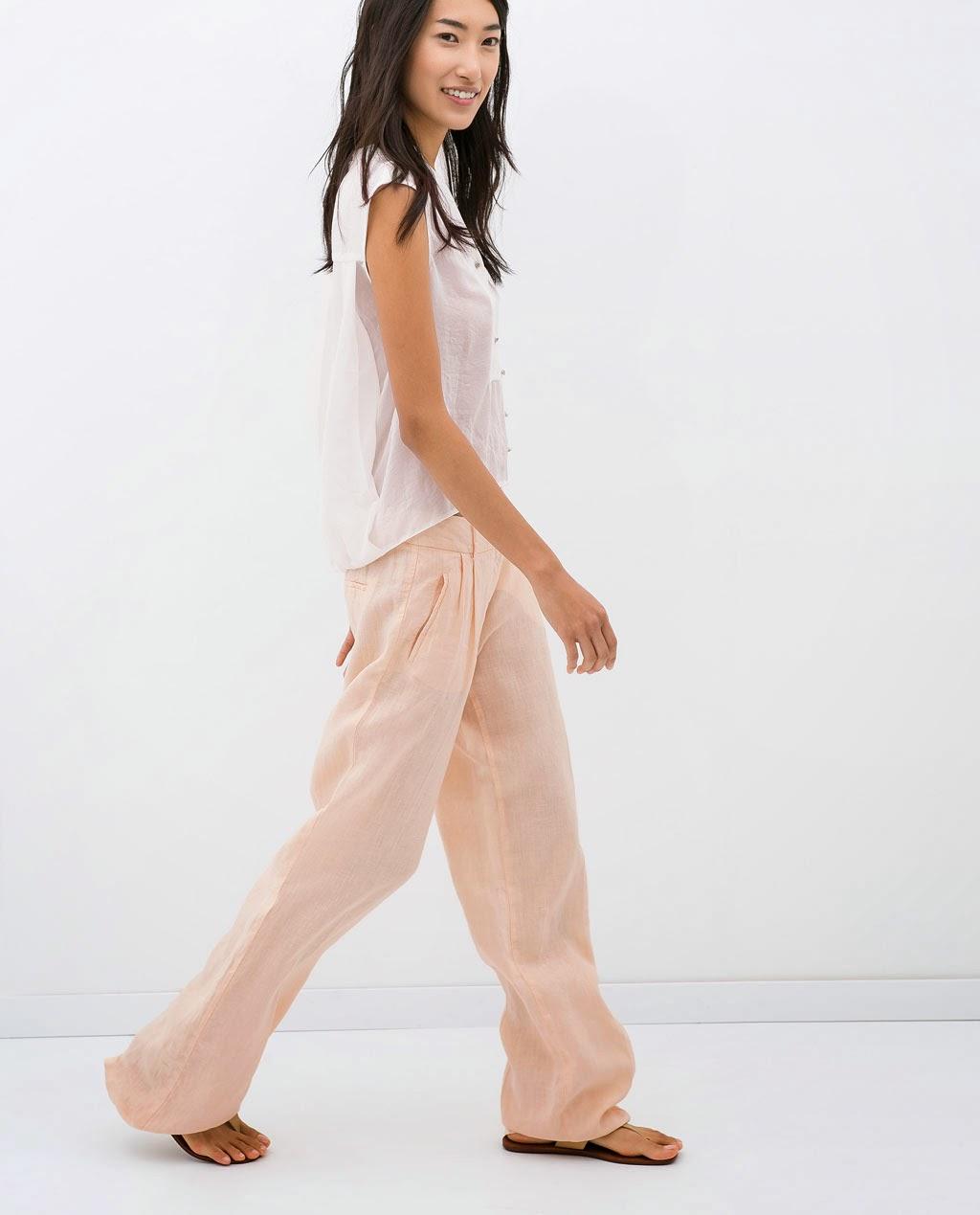 Pantalón pinzas, Zara, Rosa, Pink, Style, Fashion, Street Style