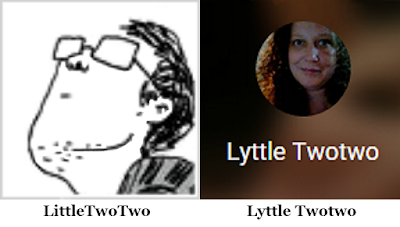 Avatars of LittleTwoTwo on InfoBarrel and Lyttle Twotwo on Google Plus profile (used with permission)