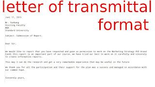 Transmittal Letter Format Letter Format 2017