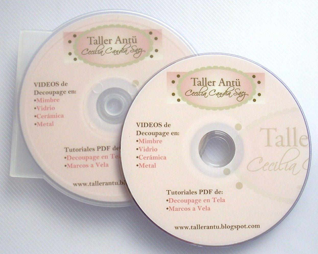 CD Con 4 Videos Para Aprender  O Hacer Decoupage En