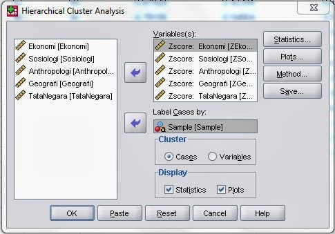 Proses Analisis Cluster