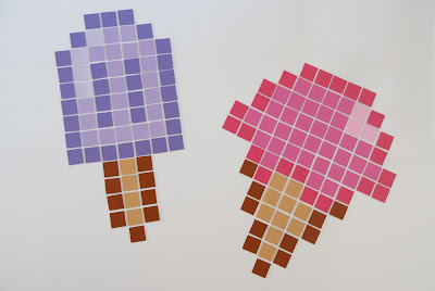 Pixel art fridge magnets DIY ice cream and popsicle How to