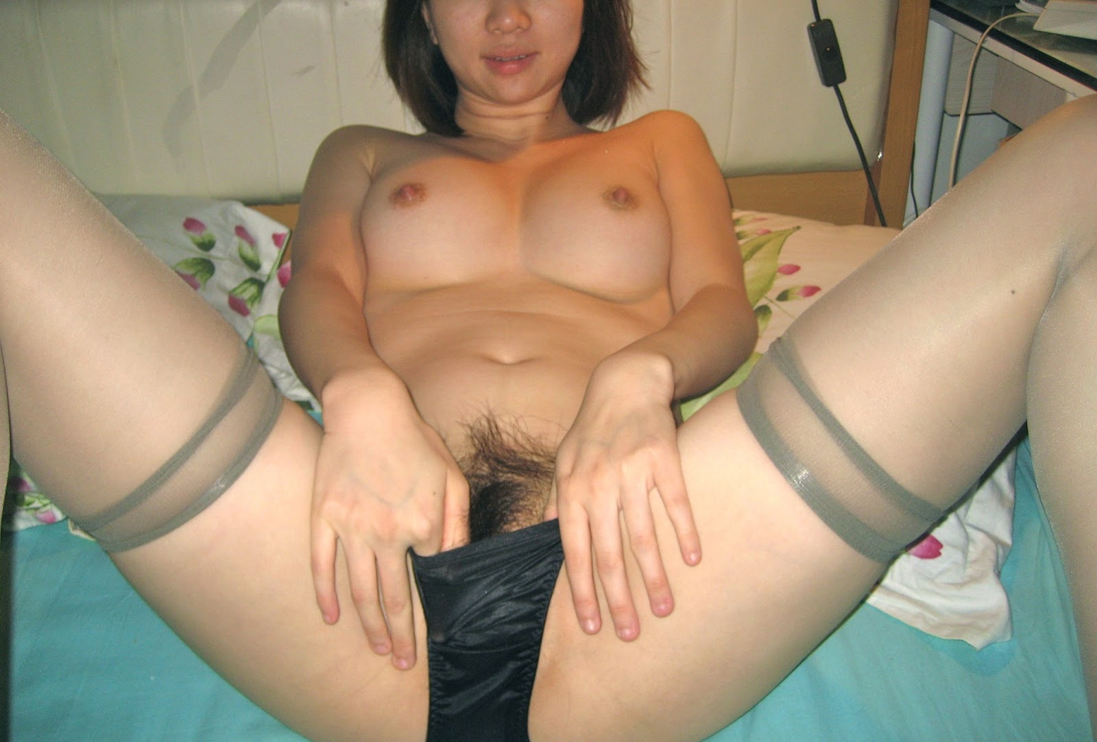 Desirable asian amateur gets her tiny pussy 9