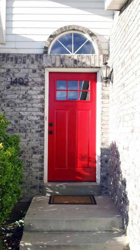 Red Front Door. Red Front Door With Red Front Door. Bright Red Front ...