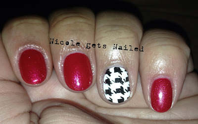 Houndstooth with Red