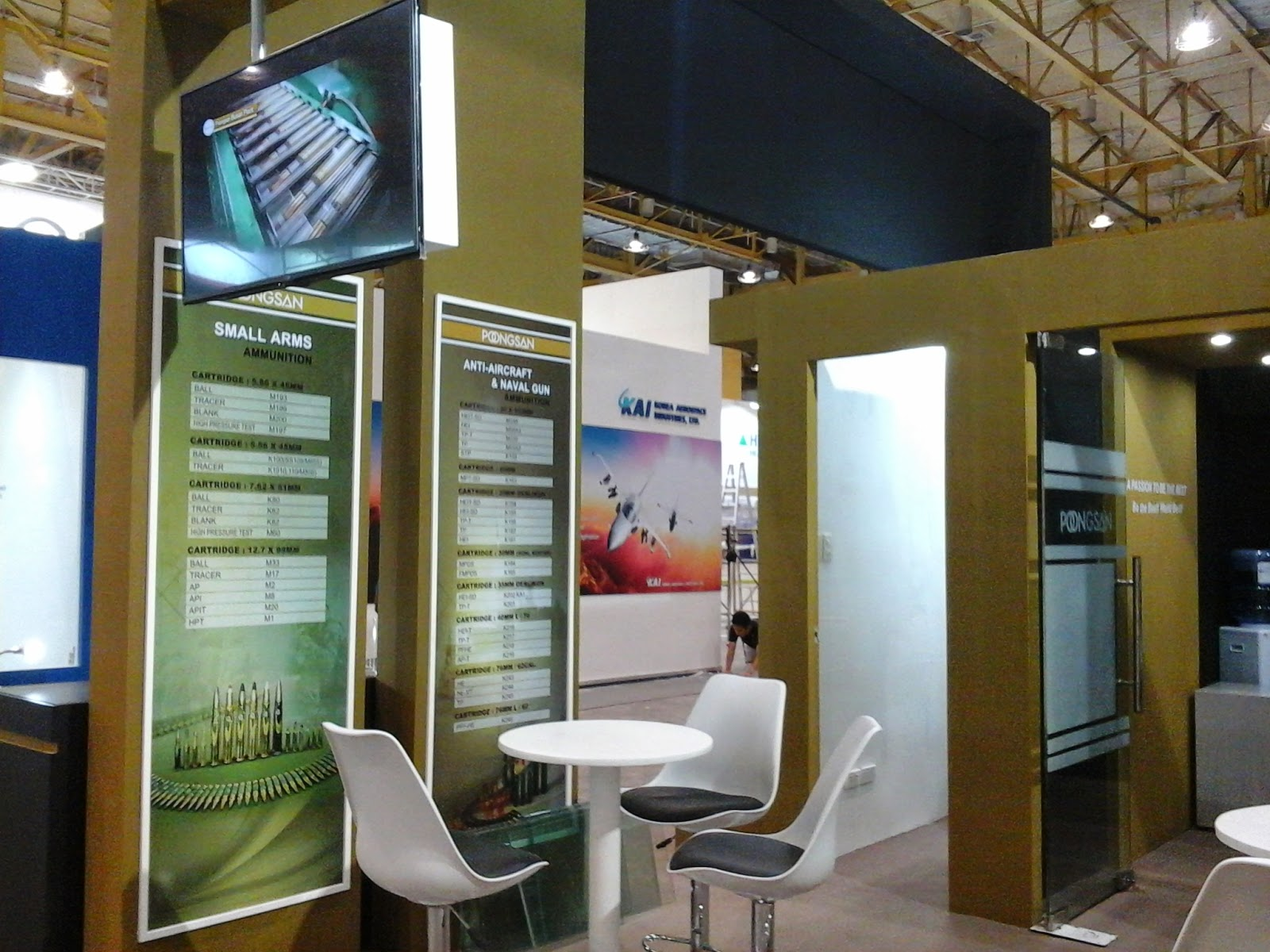 Inside Poongsan ADAS 2014 Trade Show Booth