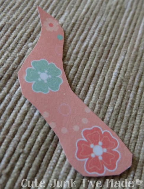 Homemade Wedding Card - scrap flowers
