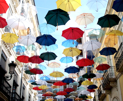 La calle de los paraguas en Alicante, Espaa. - Umbrella's Street at Alicante, Spain-calle-de-los-paraguas-espaa-png