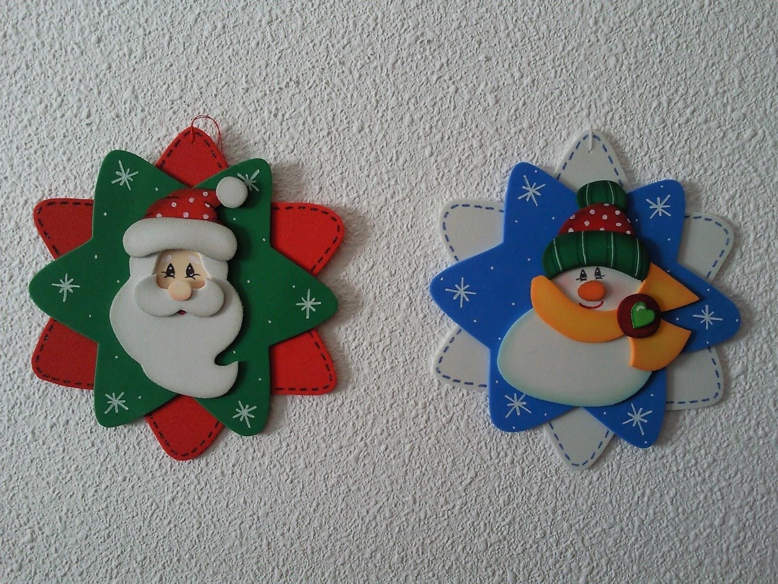 Cursos continuado de manualidades con goma eva espacio - Cosas navidenas para hacer en casa faciles ...