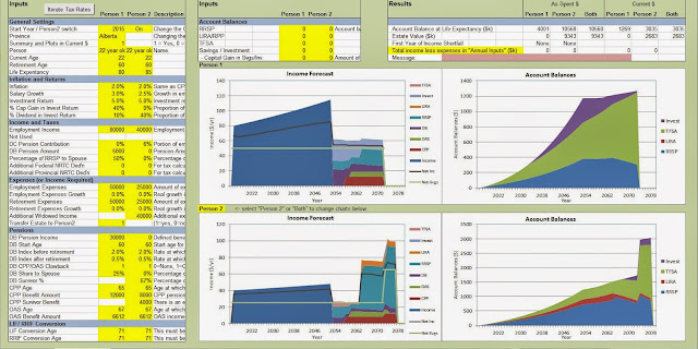 spreadsheets and financial basics retirement spreadsheet